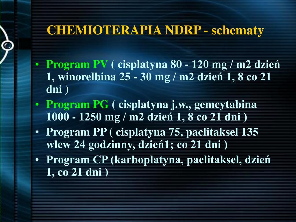 CHEMIOTERAPIA NDRP - schematy