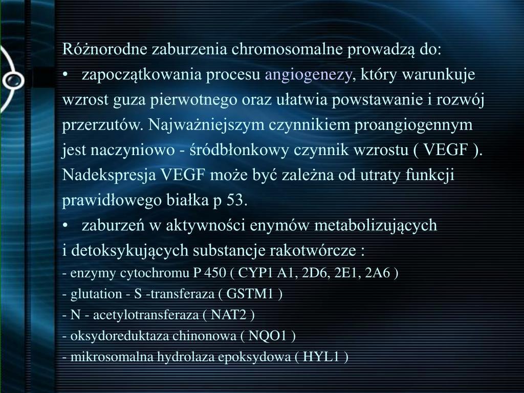 Różnorodne zaburzenia chromosomalne prowadzą do: