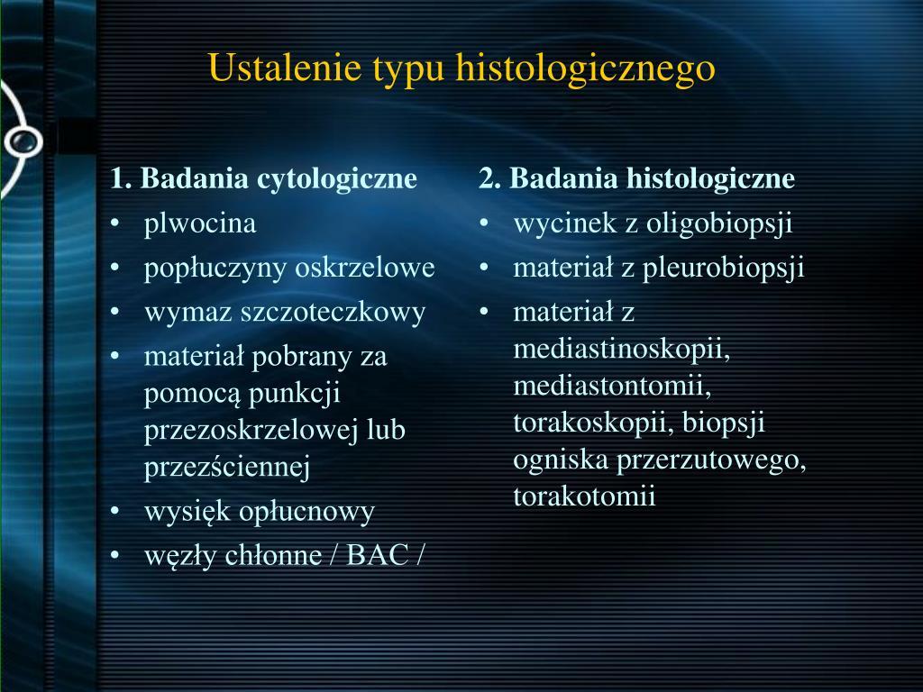 1. Badania cytologiczne