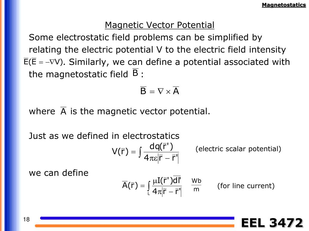 Magnetic Vector Potential