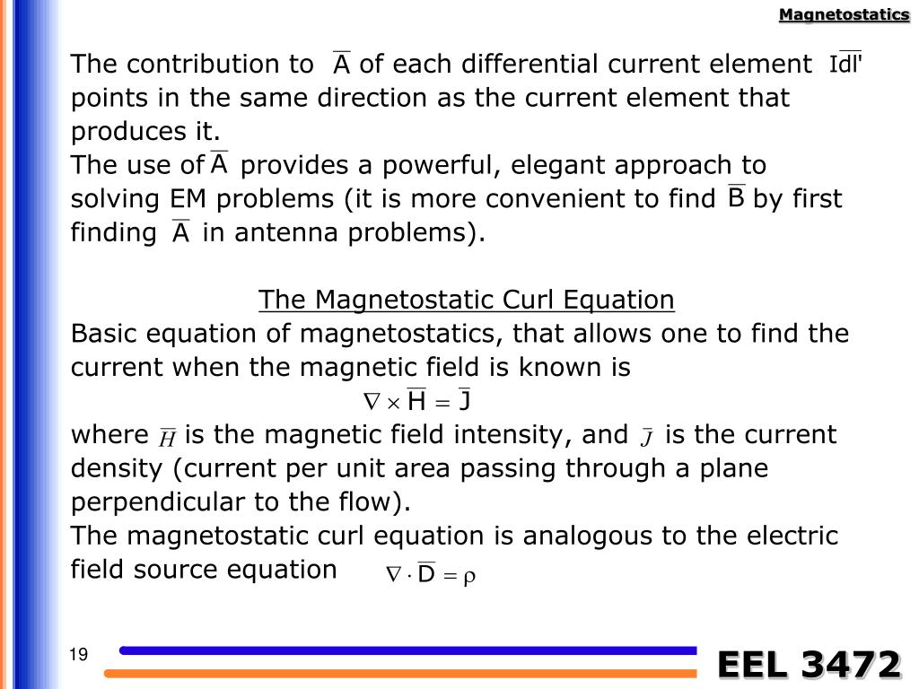 The contribution to     of each differential current element