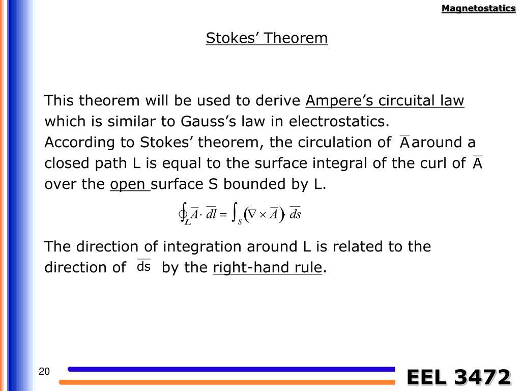 Stokes' Theorem