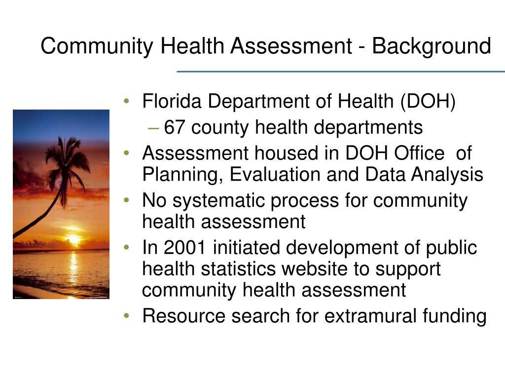 Community Health Assessment - Background