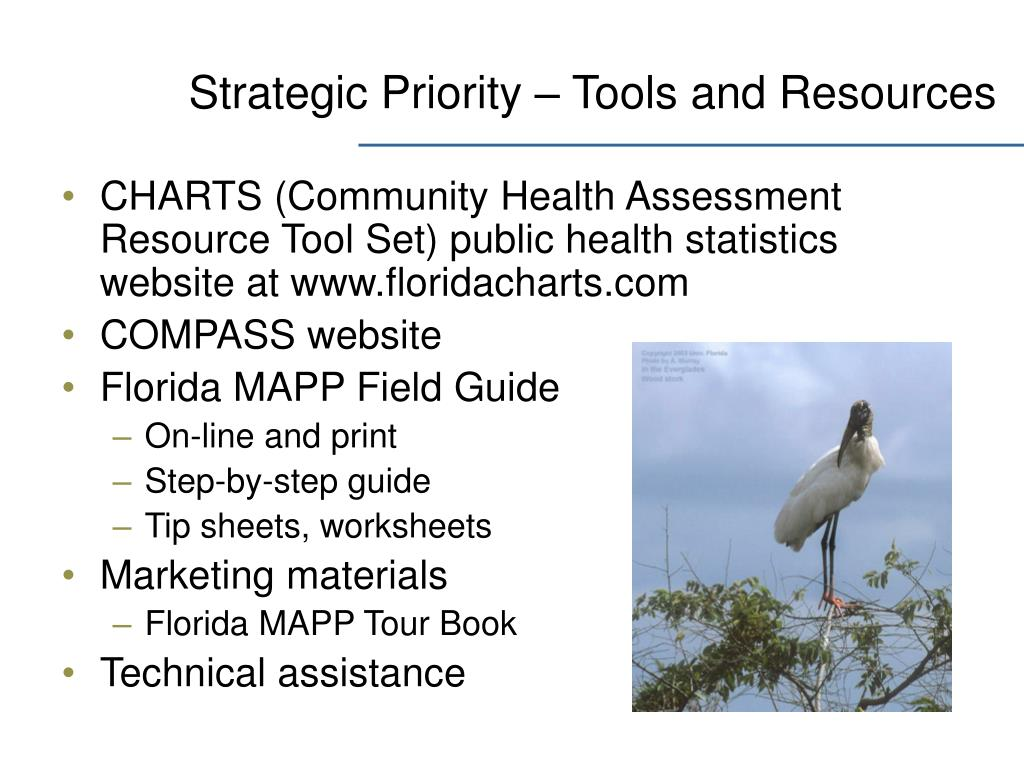 Strategic Priority – Tools and Resources