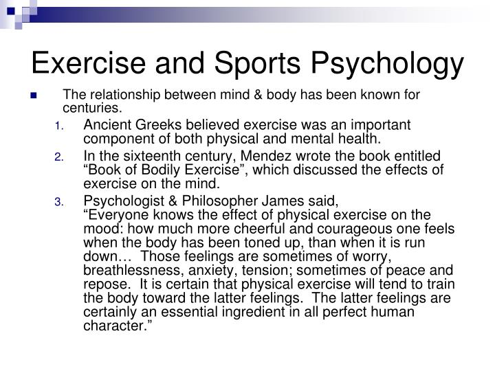 Exercise and sports psychology l.jpg