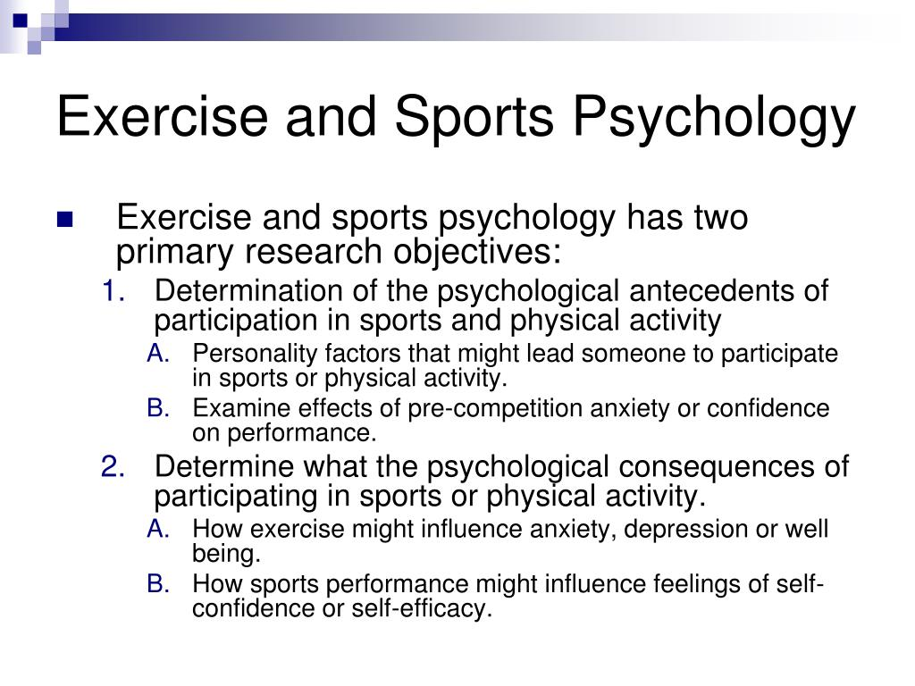 Exercise and Sports Psychology