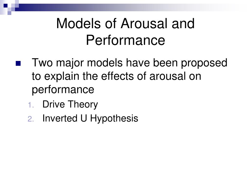 Models of Arousal and Performance