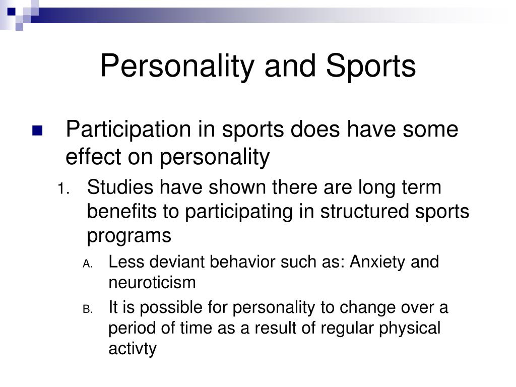 Personality and Sports