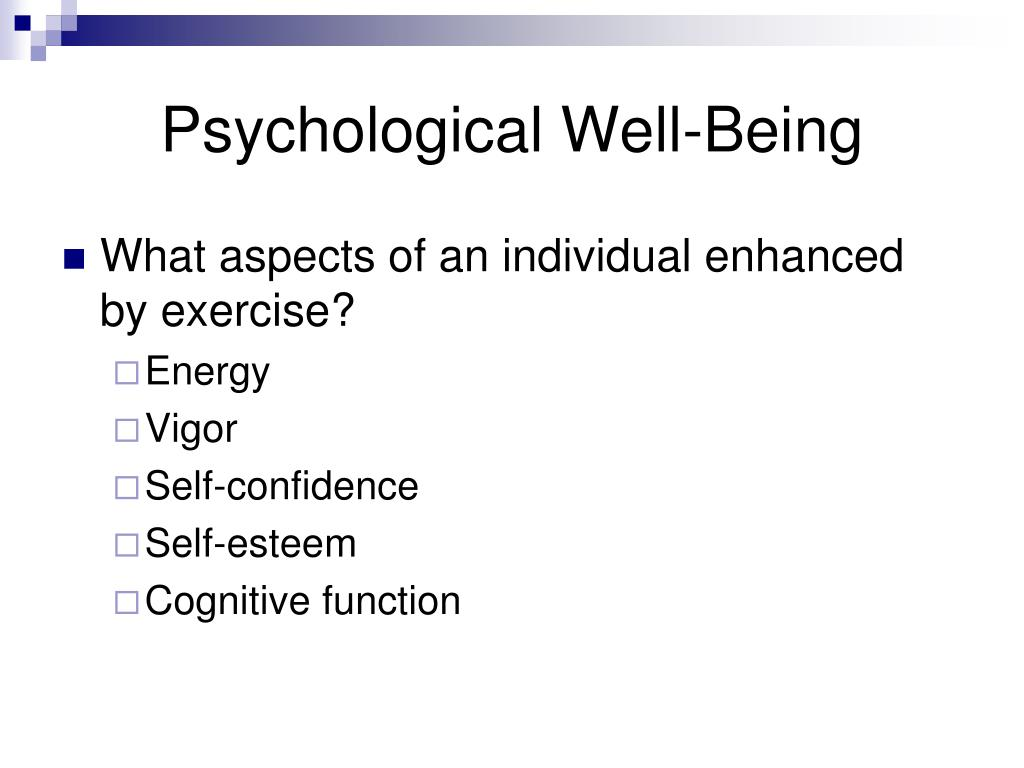 Psychological Well-Being