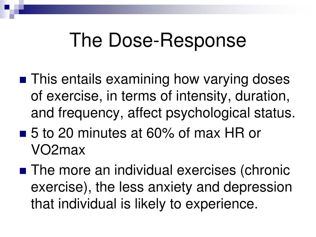 The Dose-Response