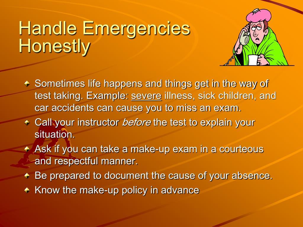 Handle Emergencies