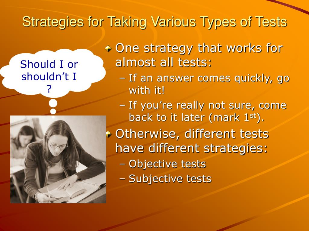 Strategies for Taking Various Types of Tests