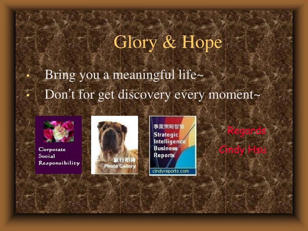 Glory & Hope
