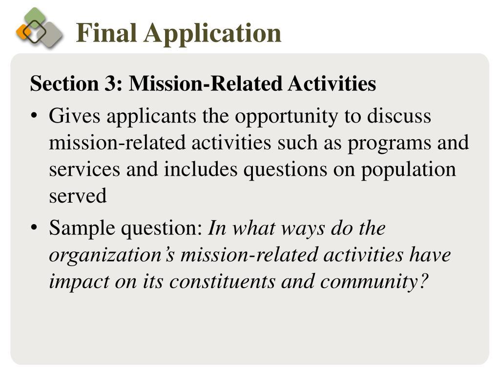 Final Application