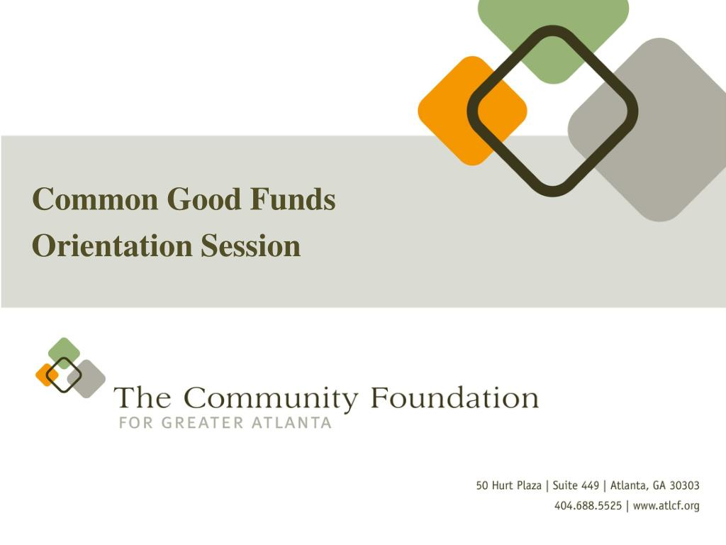 Common Good Funds