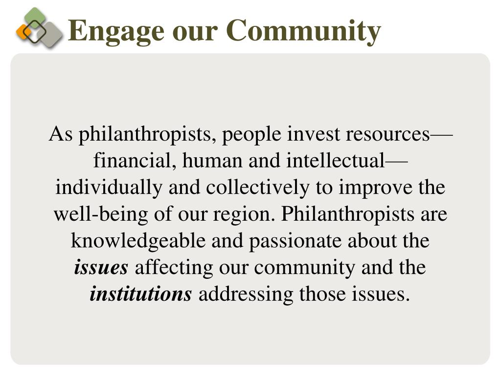 Engage our Community