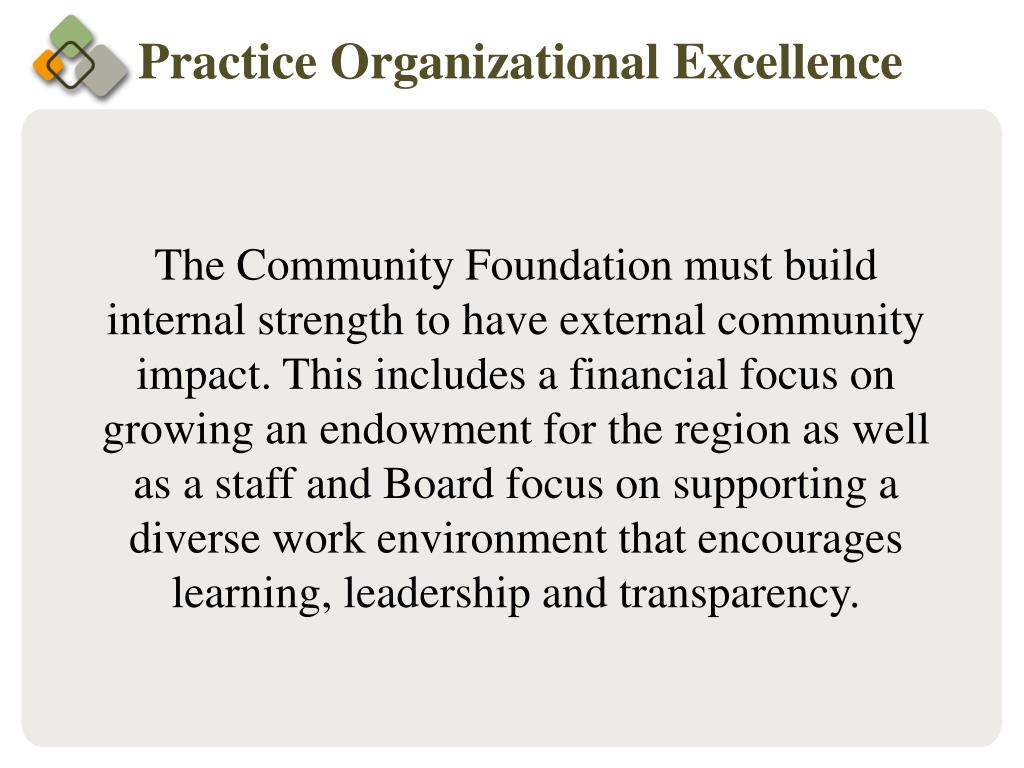 Practice Organizational Excellence