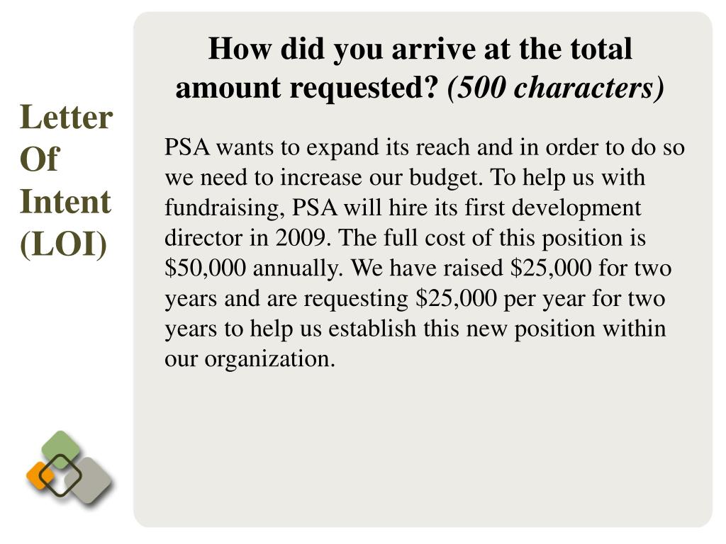 How did you arrive at the total amount requested?