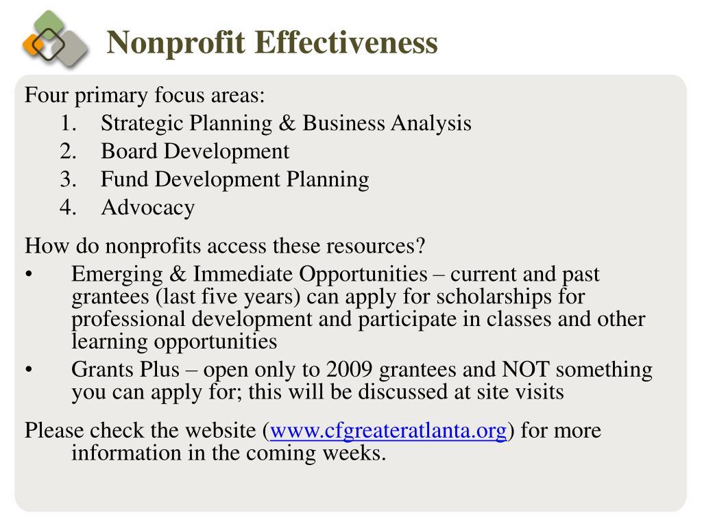 Four primary focus areas: