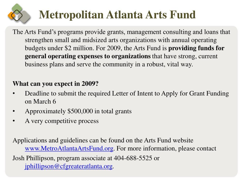 Metropolitan Atlanta Arts Fund