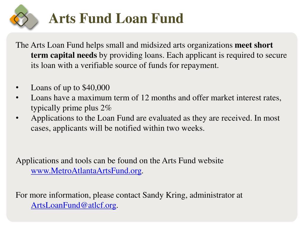 Arts Fund Loan Fund