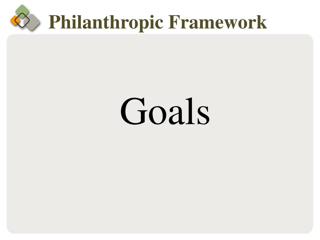 Philanthropic Framework