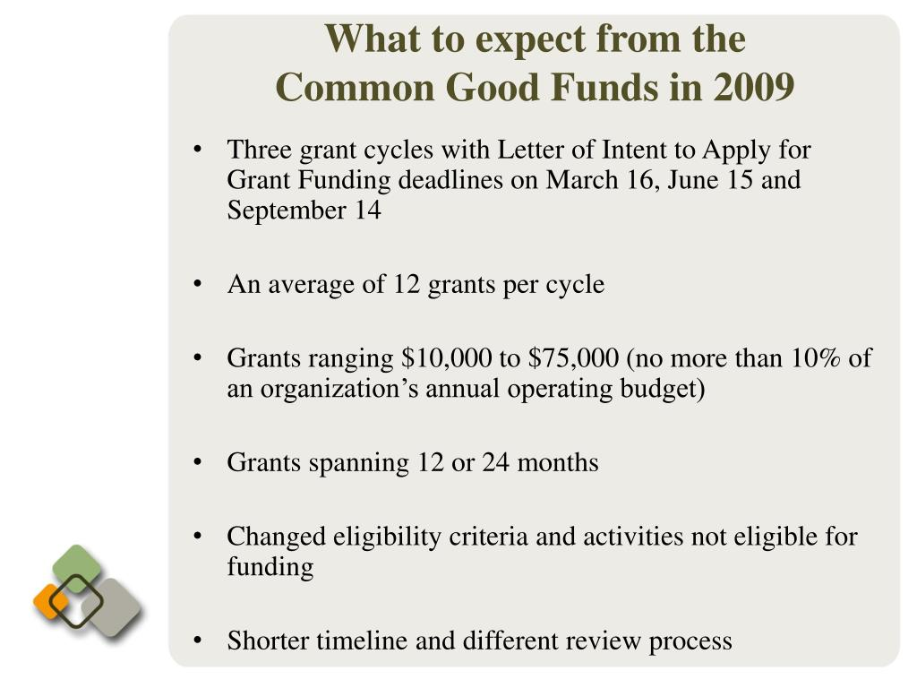 Three grant cycles with Letter of Intent to Apply for Grant Funding deadlines on March 16, June 15 and September 14