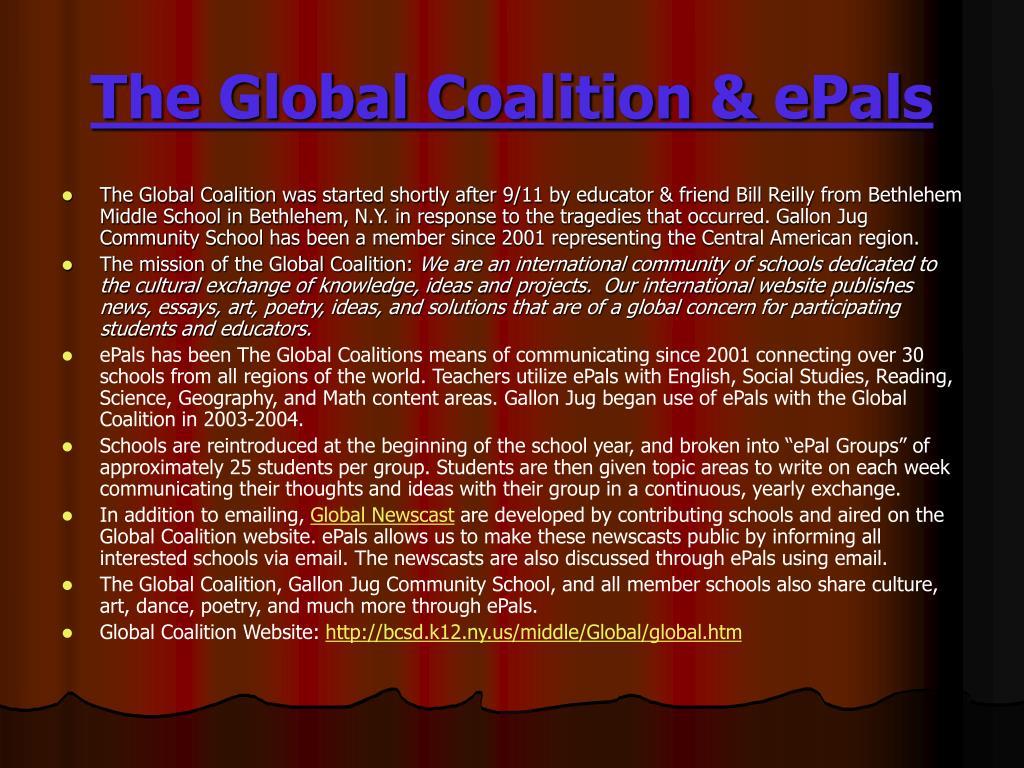The Global Coalition & ePals