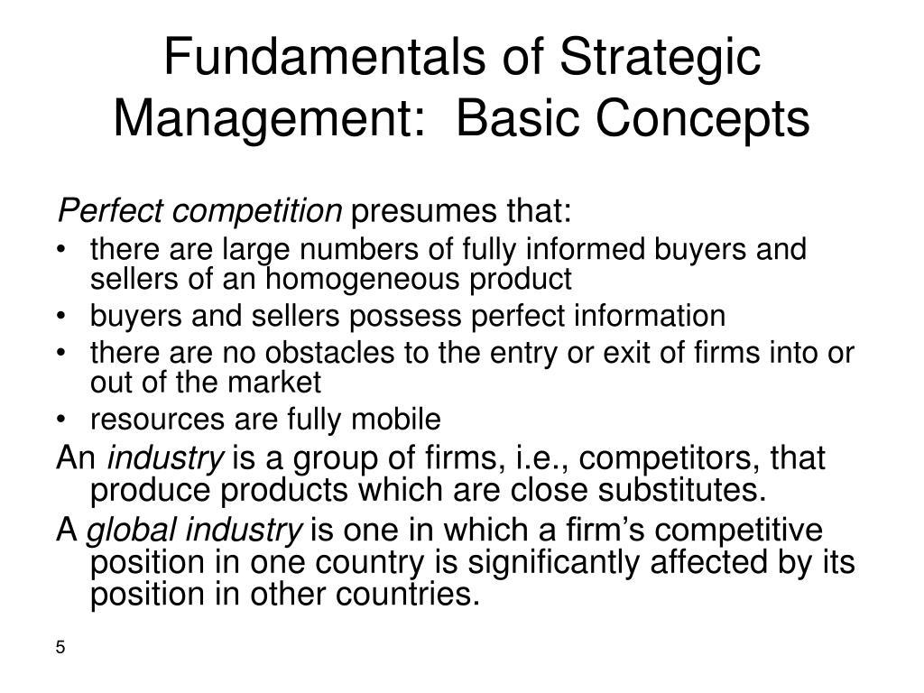 Fundamentals of Strategic Management:  Basic Concepts