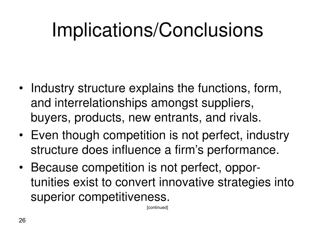 Implications/Conclusions