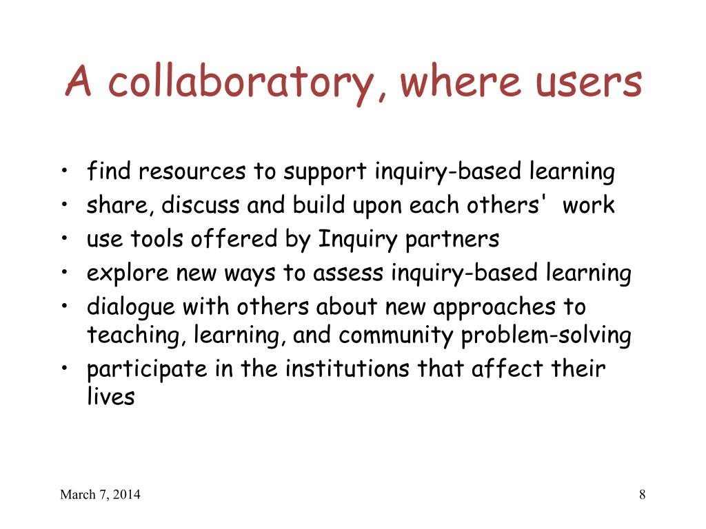 A collaboratory, where users