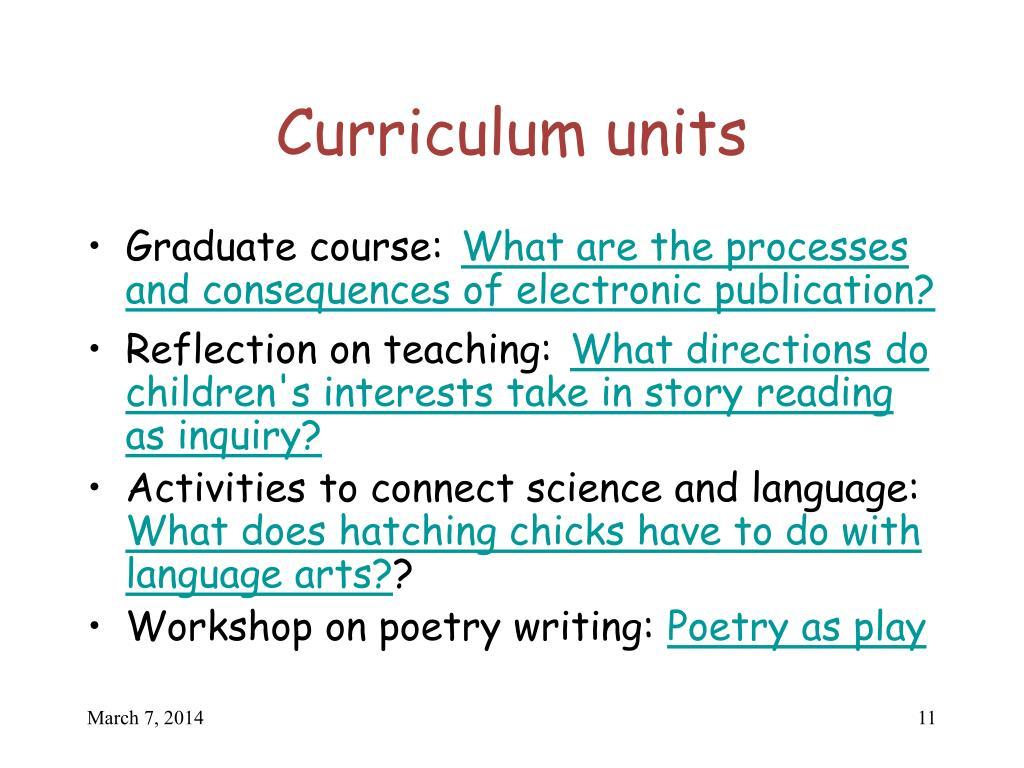 Curriculum units