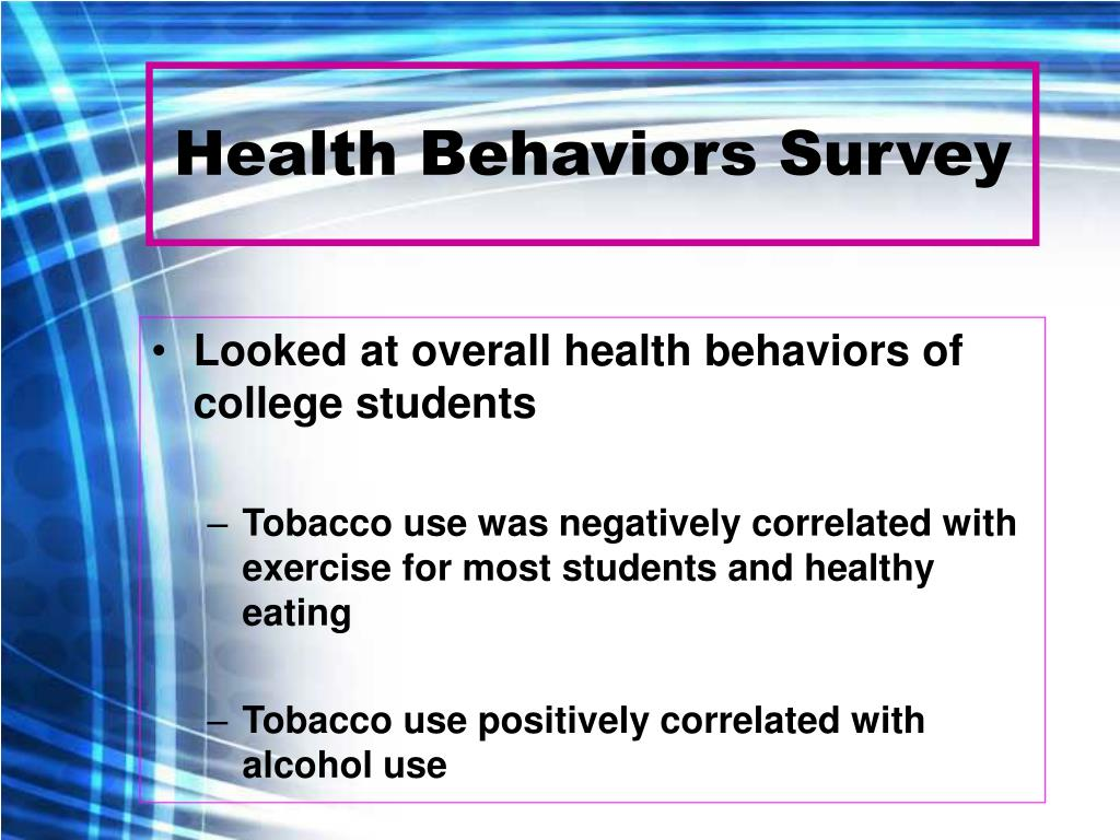 Health Behaviors Survey