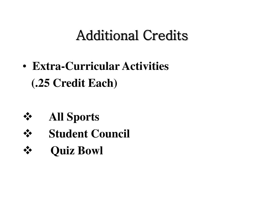 Additional Credits