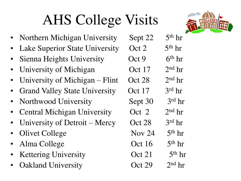 AHS College Visits