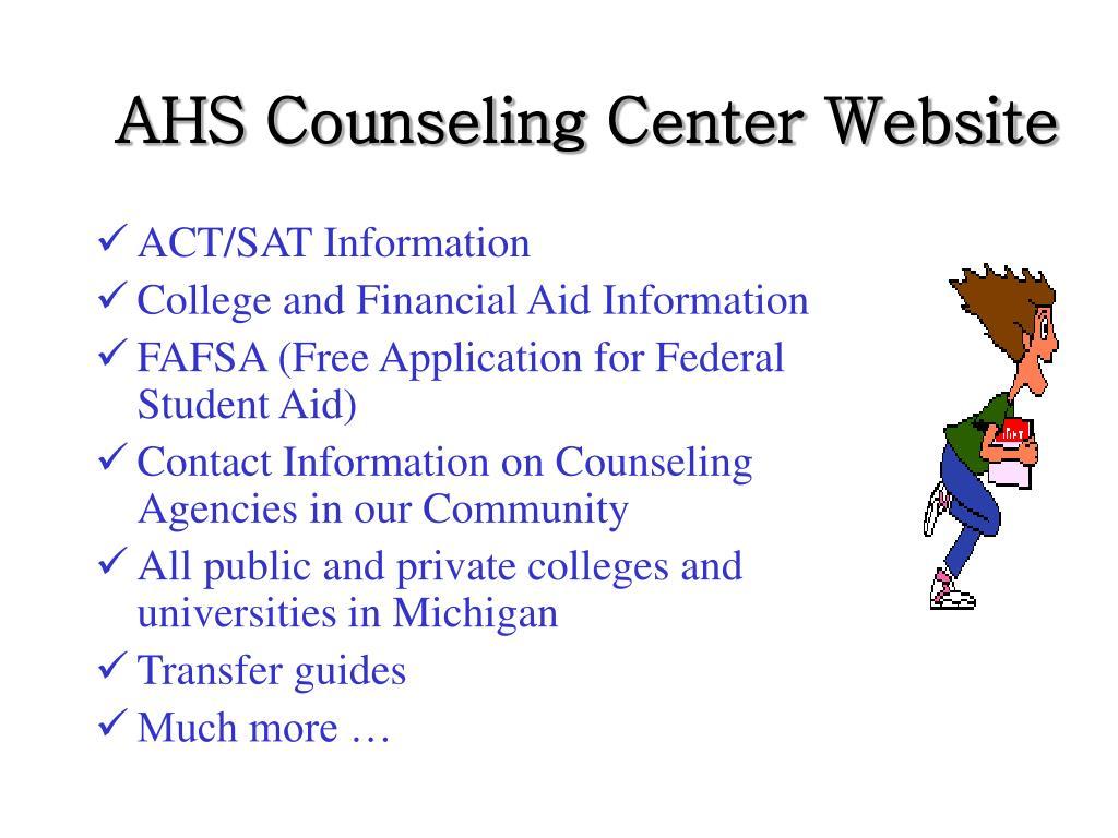 AHS Counseling Center Website