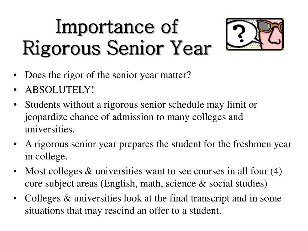 Importance of Rigorous Senior Year