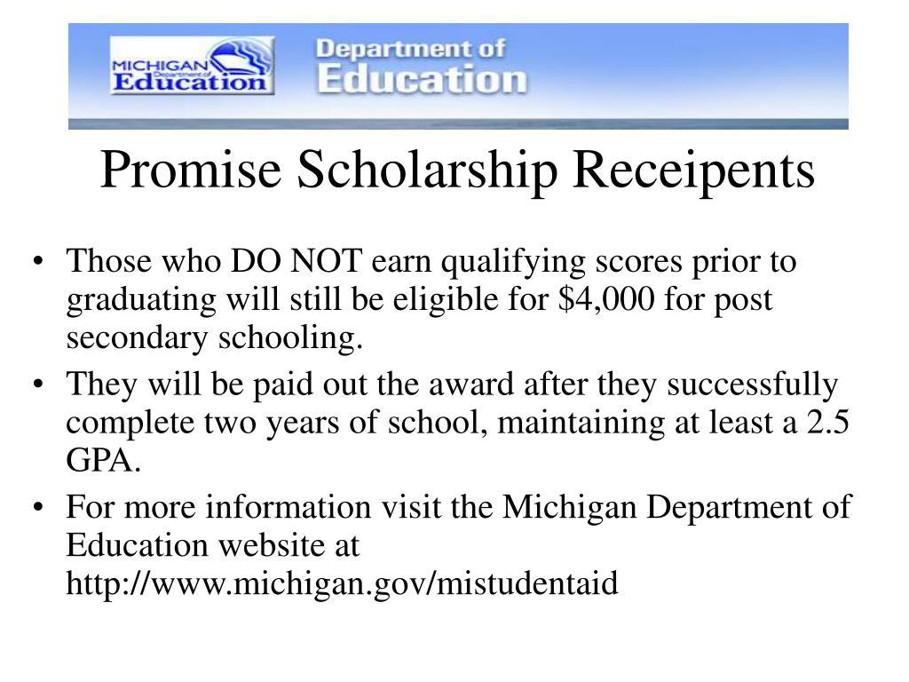 Promise Scholarship Receipents