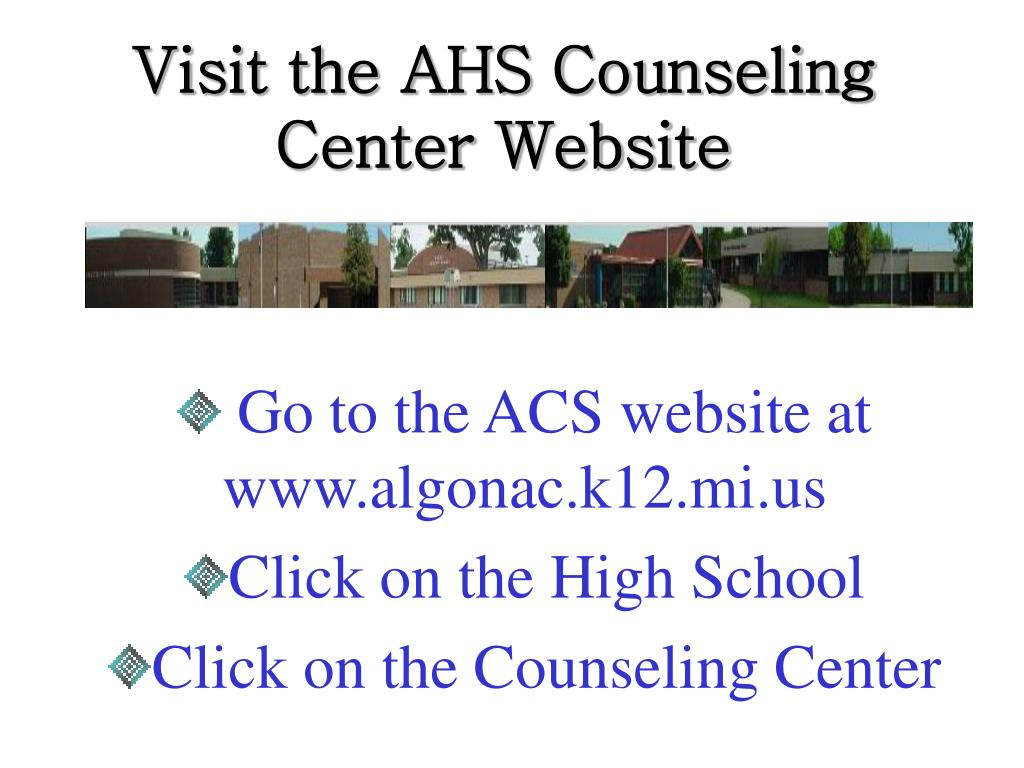 Visit the AHS Counseling Center Website