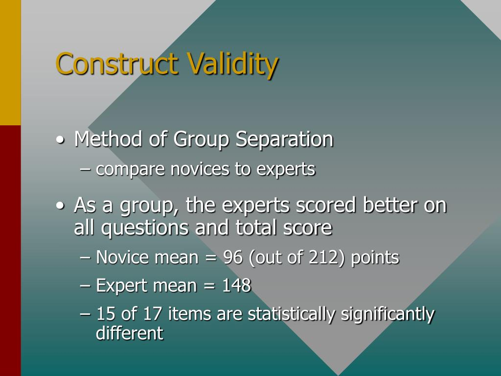 construct validity research paper