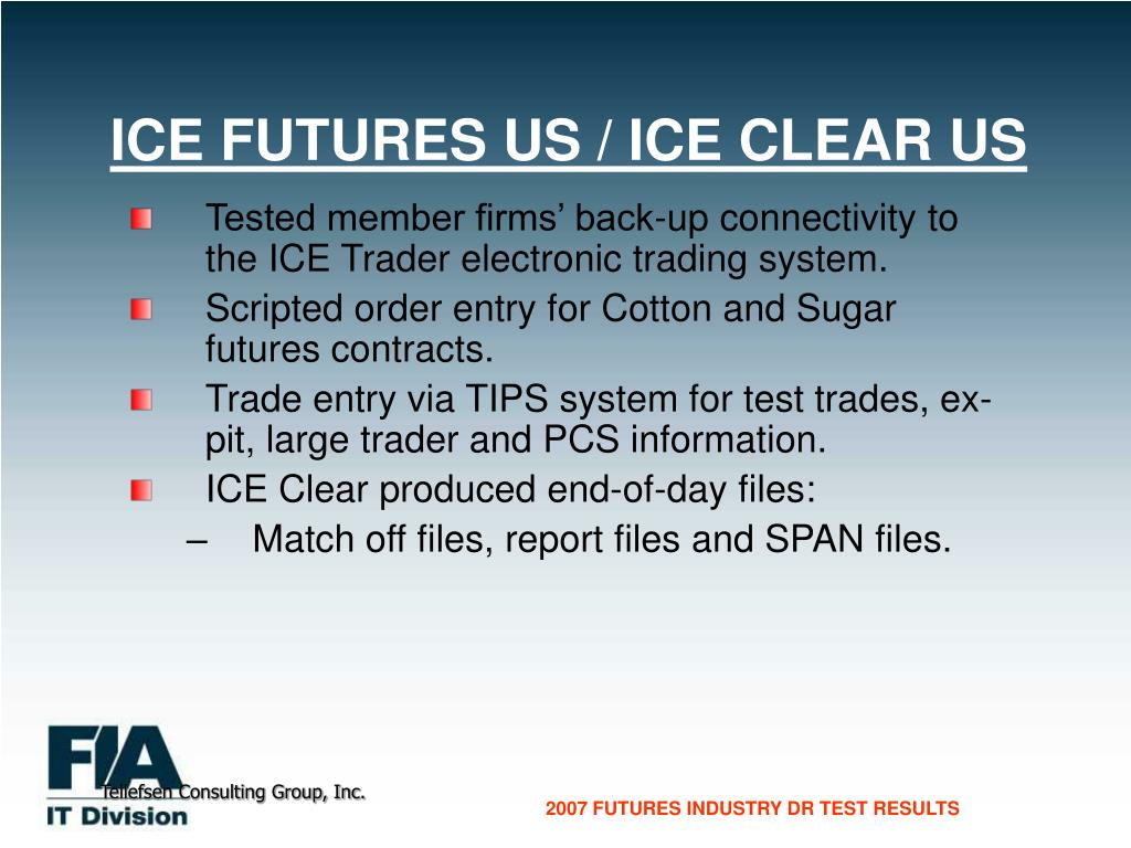 ICE FUTURES US / ICE CLEAR US