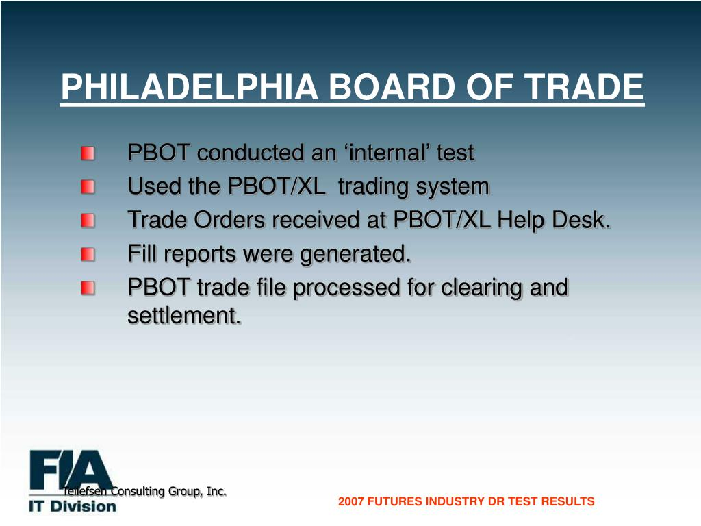 PHILADELPHIA BOARD OF TRADE