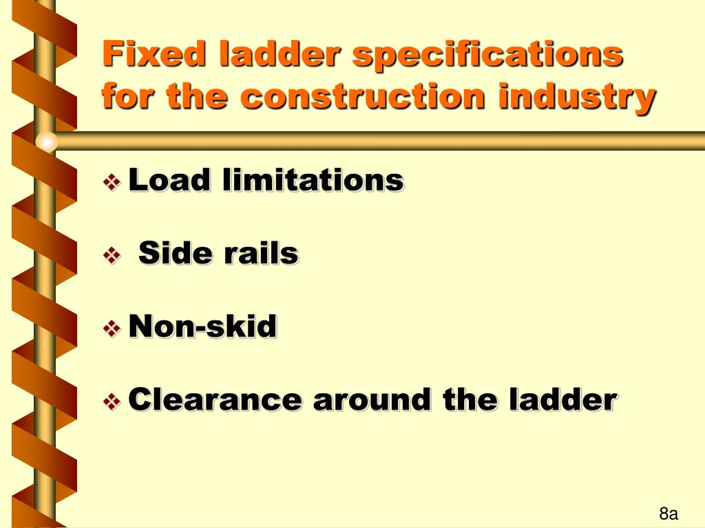 Fixed ladder specifications for the construction industry