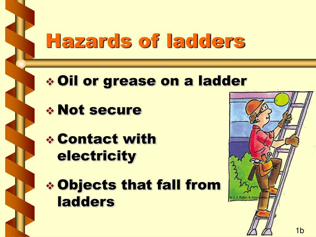 Hazards of ladders