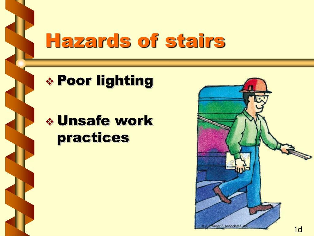 Hazards of stairs