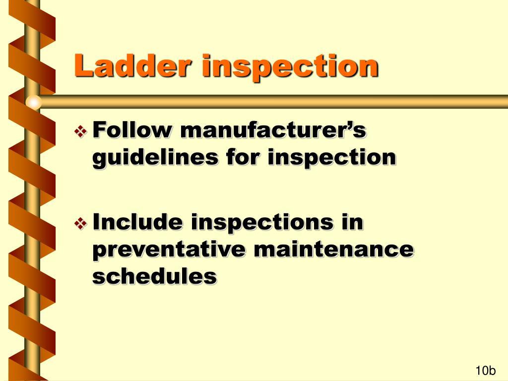 Ladder inspection
