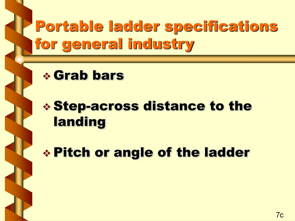 Portable ladder specifications