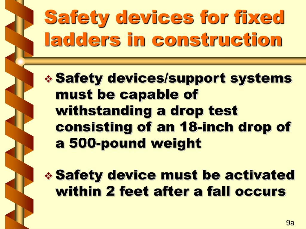 Safety devices for fixed ladders in construction
