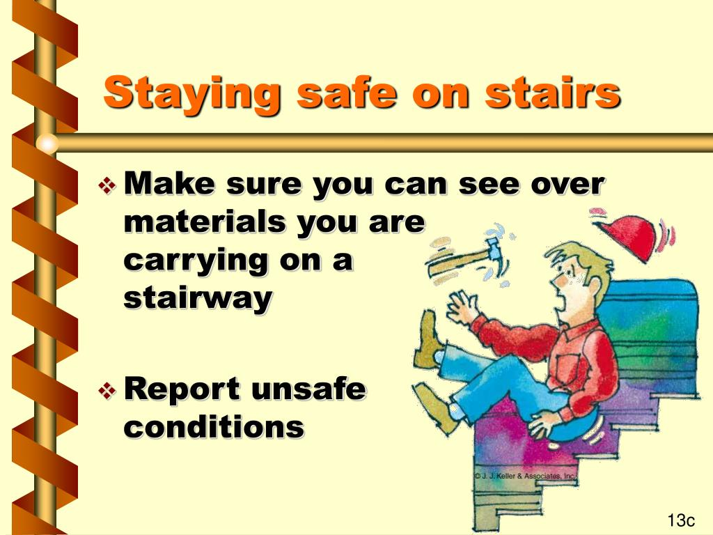 Staying safe on stairs