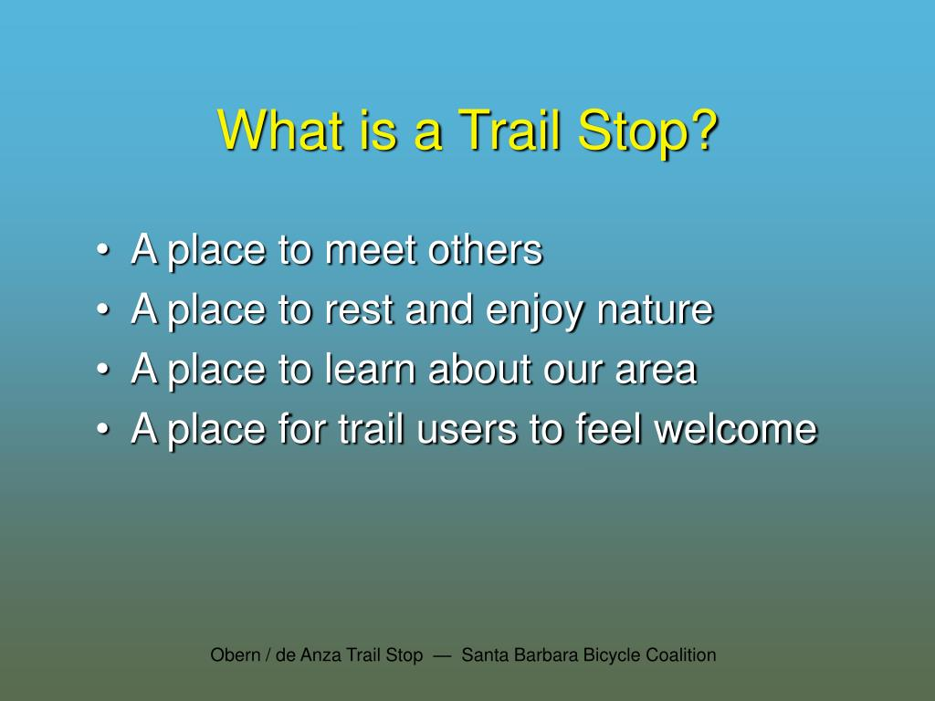 What is a Trail Stop?